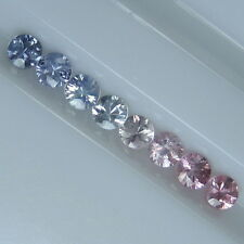 GENUINE MINED NATURAL BLUE & PINK SAPPHIRE ROUND DIAMOND CUT 2.8 MM. 8 PCS.*4195
