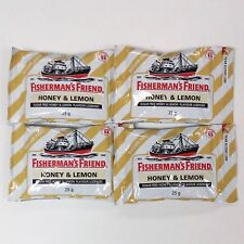 4 x 25 g  Fishermans Friend Honey & Lemon for Coughs Sore Throat  Free Shipping