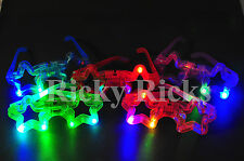 12 PCS Light-Up Star Glasses LED Flashing Blinking Sunglasses Rave Party EDC