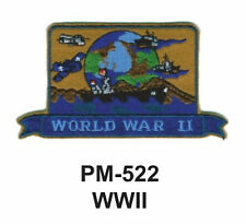 """3""""  WWII Embroidered Military Patch"""