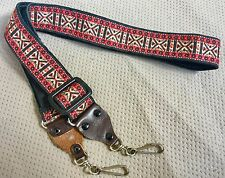 """Vintage ACE Style Woven 1.5"""" Guitar / Camera Strap"""
