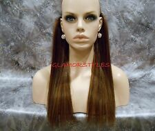 "16"" HUMAN BLEND FLIP IN SECRET CLEAR WIRE HAIR PIECE EXTENSIONS NO CLIP IN/ON"