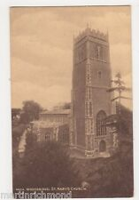 Suffolk, Woodbridge, St. Mary's Church Postcard, B487