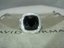 AUTHENTIC DAVID YURMAN ALBION 11MM ONYX PAVE DIAM. RING NEW STILE SIZE 6