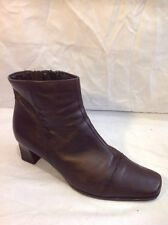 Clarks Brown Ankle Leather Boots Size 6