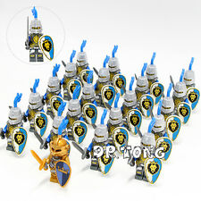 21pcs/Lot Roman Medieval Light Armor Castle Knights Minifigures Building Blocks
