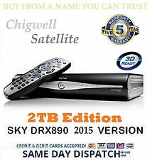2TB SKY + HD BOX SATELLITE RECEIVER AMSTRAD PLUS DRX890 ☆☆ MASSIVE 2TB UPGRADE☆☆