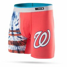 STANCE WASHINGTON NATIONALS Basilone Boxer Brief TIE DYE RED LARGE M302B16TNA