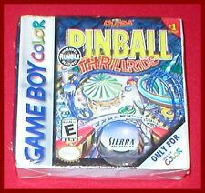 3-D Ultra Pinball Thrillride W/ Rumble Feature for the Game Boy Color NEW SEALED