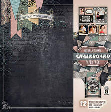 Chalkboard Scrapbooking 12X12 Double-sided Paper Pack HOT OFF THE PRESS 4221 New