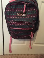 Jansport Trans Gray With Multi-Color Polka Dots Backpack Pre-Owned