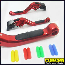 Area 22 Moto Guzzi V9 Bobber 2016 Anti-slip Adjustable Short Levers Red