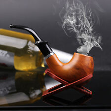 New Gift Wooden Enchase Smoking Durable Pipe Tobacco Cigarettes Cigar Pipes