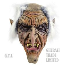 Goblin Mask Old Man Halloween Scary Horror Adult Fancy Dress Costume Accessory