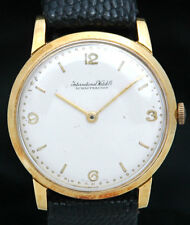 International Watch Co IWC Schaffhausen SOLID 18K GOLD Mens WATCH C401 1205 RARE
