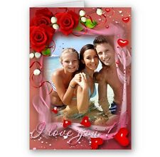 Personalised Forever In Love, Photo, Valentine's, Birthday, Christmas, A5 Card