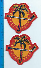 """Set of 2 Florida Panthers Jersey Shoulder Patch 4"""" h x 4"""" w (iron or sew on)"""