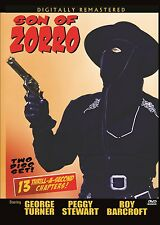 SON OF ZORRO - Cliffhanger with EXTRAS  2 disc DVD- GEORGE TURNER, PEGGY STEWART