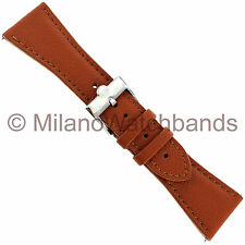 26mm Glam Rock High Quality Hand Made Brown Genuine Leather Stitched Watch Band