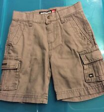 QUIKSILVER Gray Grey Toddler Boys Cargo Shorts Size 2T Adjustable Waist Belt