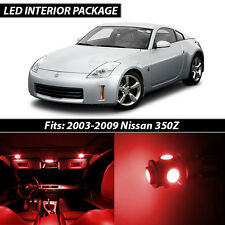 Red Interior LED Lights Package Kit for 2003-2009 Nissan 350Z