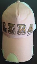 PINK Graphic Snapback Trucker Mesh Hat Cap LEBA Initials ONE SIZE FITS ALL