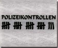 Funsticker Polizeikontrollen Strichliste Auto Aufkleber -Spaß Haters Style Decal
