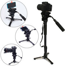 YUNTENG VCT-288 Camera Monopod + Fluid Pan Head + Unipod Holder For DSLR Camera