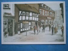 POSTCARD WORCESTERSHIRE WORCESTER FRIAR STREET  WATERCOLOUR