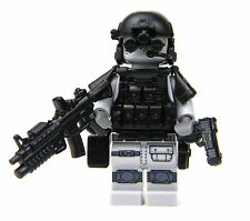 Gray Heavy Assault  Army Special Forces Minifigure (SKU25) made with real LEGO®