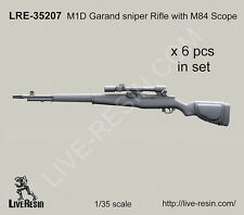 Live Resin 1/35 M1D Garand Sniper Rifle with M84 Scope (6 sets)