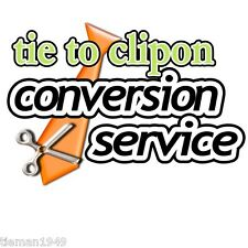 Turn Convert Your own Tie into a Clip On Conversion Service Send it to us!