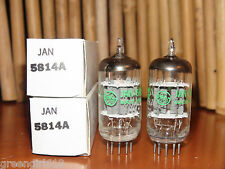 2 Vintage GE 5814 A Stereo Tubes Results = 3110/3050 3180/3080  #6614