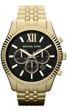 NEW MICHAEL KORS MK8286 GOLD LEXINGTON CHRONOGRAPH WATCH - 2 YEAR WARRANTY