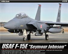 Academy 1/48 Plastic Model Kit USAF F-15E Seymour Johnson Strike Eagle #12295