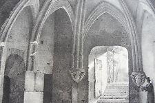LITHOGRAPHIE originale ENGELMANN salle basse de la TOUR BIGOT ROUEN 1863