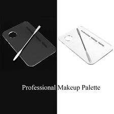 Acrylic Makeup Cosmetic Nail Eye Shadow Mixing Palette + Stainless Spatula Tool