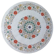 """24"""" Marble Coffee Table Top Inlay Pietra dura Art  Home Decor and Gifts"""