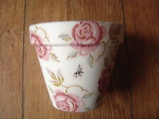 Hand Painted + Decoupaged Flower Pots 11 cm Emma Bridgewater Rose and Bee #1