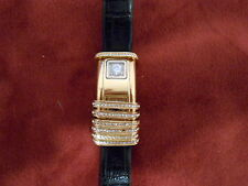 Fanante Women's Gold Tone Watch 2 Dials, One Simulated Diamond & Analog Dial