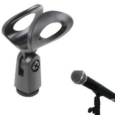 Flexible Rubberized Plastic Clamp Clips Holder Mount Microphone Stand Accessory