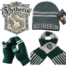 Harry Potter Slytherin House Gift 3 PCS Of Wool Knit Scarf + Hat + Thick Gloves