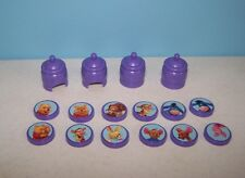 "Disney Winnie the Pooh 2"" Purple Beehive & Character Discs Toys or Cake Toppers"