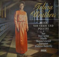 """FELICIA WEATHERS ARIEN VON GIUSEPPE VERDI - ARGEO QUADRI  12""""  LP (N382)"""