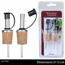 Wine Pourer With Plastic Stopper (2pc Pack) - Cork