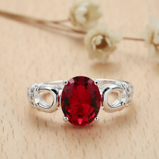 Promotional Ring 925 Silver Plated Crystal Jewelry 4 Color Size 7-9 LF