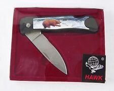 Hawk Brand Grizzly Bear Lockback Folding Pocket Knife