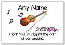Gracias por tocar el violin en nuestra boda personalizado Imán