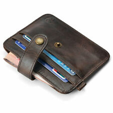Popular New Mens Genuine Leather Money Clip Wallet ID Credit Card Holder Case ID