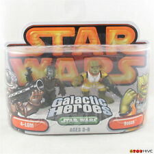 Star Wars Galactic Heroes 4-Lom and Bossk bounty hunters 2-pack orange packaging